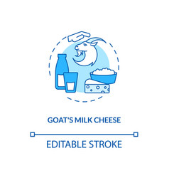 Goat milk cheese turquoise concept icon vector