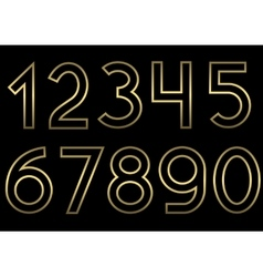 Golden number set vector