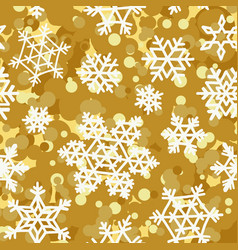 golden pattern seamless backgrounds with white vector image