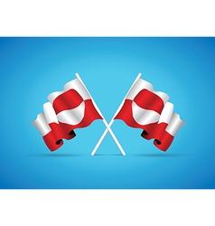 Greenland flag vector