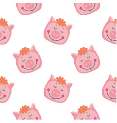 Hand-drawn with pig in a vector