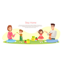 happy family stay together at vector image