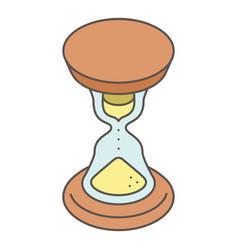 hourglass icon isometric style vector image