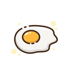 Icon food egg vector