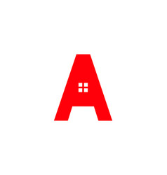 initial letter a real estate logo vector image