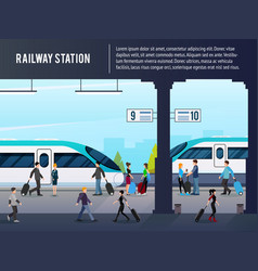 Intercity railway station vector