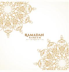 Islamic decorative arabic mandala style greeting vector