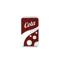 Isolated soda flat icon fizzy drink vector