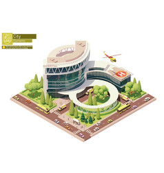 isometric hospital building vector image