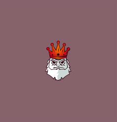 king crown mascot logo vector image