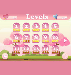 Level selection game user interface vector