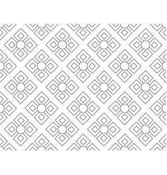 Line floral pattern seamless geometric flora vector