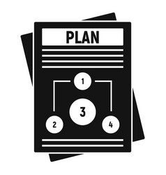 Management plan icon simple style vector