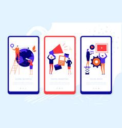 Management - set colorful web pages vector