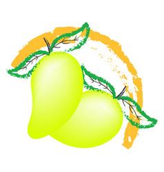 mango fruit logo isolated on white background vector image