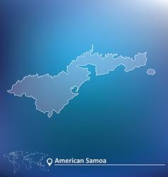 Map of American Samoa vector