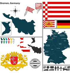 Map of Bremen vector