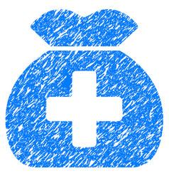 Medical fund sack grunge icon vector