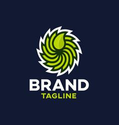 Modern eco saw logo vector