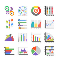 modern infographics flat icons vector image