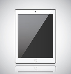 New realistic tablet modern style grey background vector