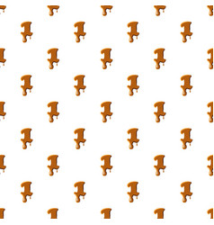Number 1 from caramel pattern vector