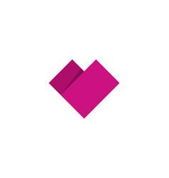 Paper love logo icon design vector