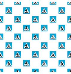 Pedestrian pattern seamless vector