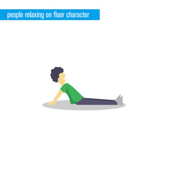 people relax on floor character vector image