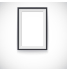 Picture wood frame vertical for image or vector image