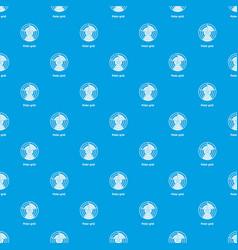 Polar grid pattern seamless blue vector