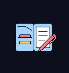 Portfolio folder rgb color icon for dark theme vector