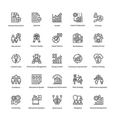 Project management line icons set 12 vector