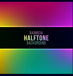 rainbow gradient background with halftone pattern vector image