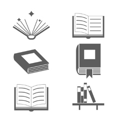 Reading Books Signs and Symbols Icons Template on vector