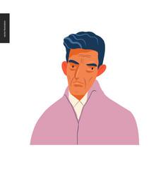 Real people portraits - brunette man vector