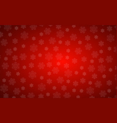 red christmas background with snowflakes simple vector image