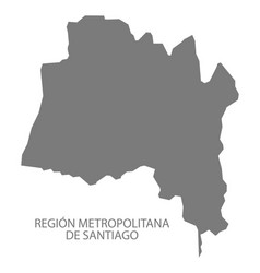 region metropolitana de santiago chile map grey vector image
