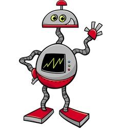 Robot or droid cartoon vector