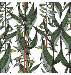 seamless pattern with detailed stylized branches vector image