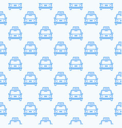 seamless pattern with taxi vehicle outline vector image