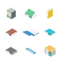 set of cardboard file folders vector image