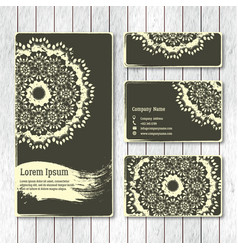 set of templates business visiting greeting cards vector image