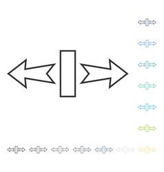 Stretch arrows horizontally icon vector