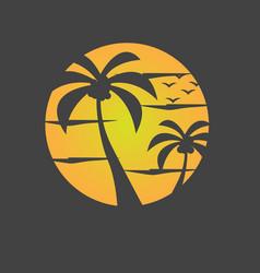 summer beach image vector image