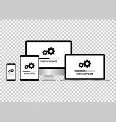 system update set it administrators installing vector image