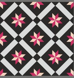 tile black and pink decorative floor tiles pattern vector image