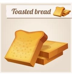 Toasted bread Detailed Icon vector image