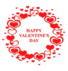 valentine circle vector image