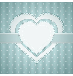 valentine heart label vector image